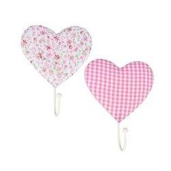 Wieszaki Pink Heart 2 sztuki