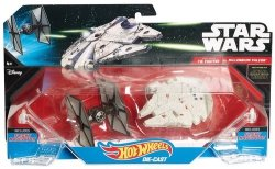 Hot Wheels Gwiezdne Wojny Millenium Falcon i Tie-Fighter