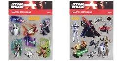 Nalepki metaliczne Star Wars 25 sztuk mix
