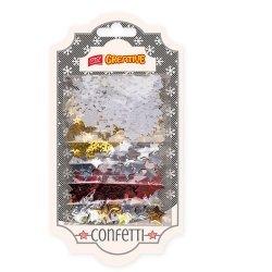 Konfetti gwiazdy śnieżynki