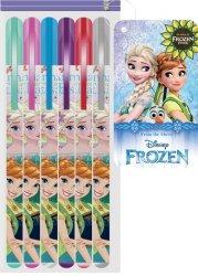Długopisy żelowe 6 kolorów Kraina Lodu