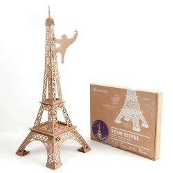 Wieża Eiffla z tektury mała zabawka do składania DIY