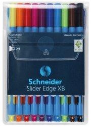 Zestaw długopisów w etui Schneider Slider Edge, XB, 10 sztuk miks kolorów
