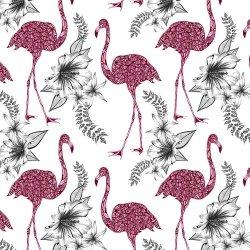 Karnet Swarovski kwadrat Etniczne flamingi