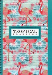 Kołonotatnik A4 Tropical w kratkę 100 kartek Flamingo