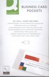 Kieszeń samoprzylepna Q-CONNECT na wizytówki 60x95mm 10 sztuk
