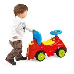 Uśmiechnięty samochód 2funkcyjny z dżwiękiem - jeździk