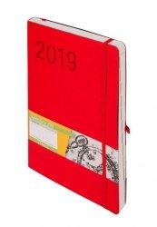 Kalendarz 2019 Impresja B5 czerwony