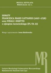Sonaty Francesca Marii Cattaneo (1697-1758) oraz finali i duetto z rękopisu tarnowskiego (PL-TA 23)
