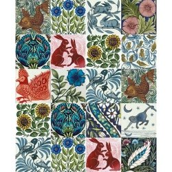 Karnet 17x14cm z kopertą Arts and Crafts tile designs