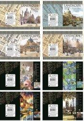 Zeszyt A6 w kratkę 48 kartek 24 sztuki mix