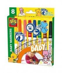 Mazaki do tkanin 8 kolorów baby markers