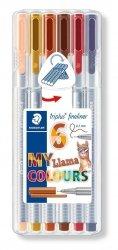 Cienkopis triplus 0,3mm My Llama Colours 6 kolorów