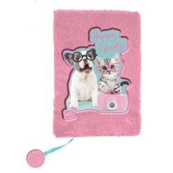Pluszowy pamiętnik Studio Pets Happy Friends