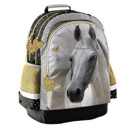 Plecak szkolny Paso Horse złote serduszka