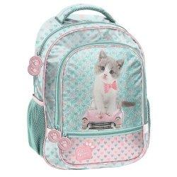 Plecak szkolny Studio Pets miętowy w serca