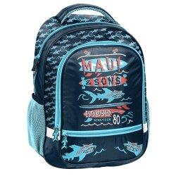 Plecak szkolny Maui and Sons granatowo-czerwony