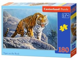 Puzzle Tiger on the Rock 180