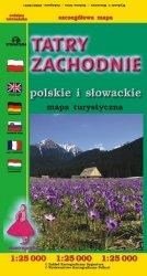 Tatry Zachodnie Polskie i Słowackie mapa turystyczna 1;25 000
