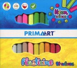 Plastelina neon 24 kolorów