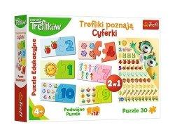 Puzzle edukacyjne Trefliki poznają cyferki 30