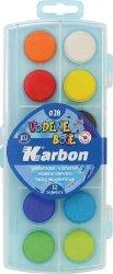 Farba akwarelowa 12 kolorów Karbon
