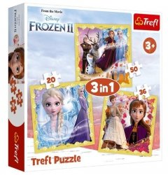Puzzle 3w1 Kraina Lodu 2 Moc Anny i Elsy