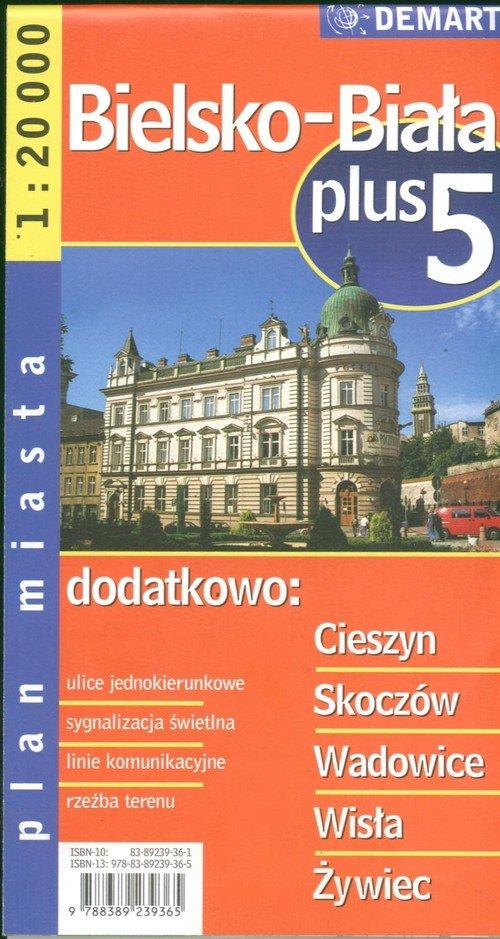 Bielsko-Biała plus 5 1:20 000 plan miasta