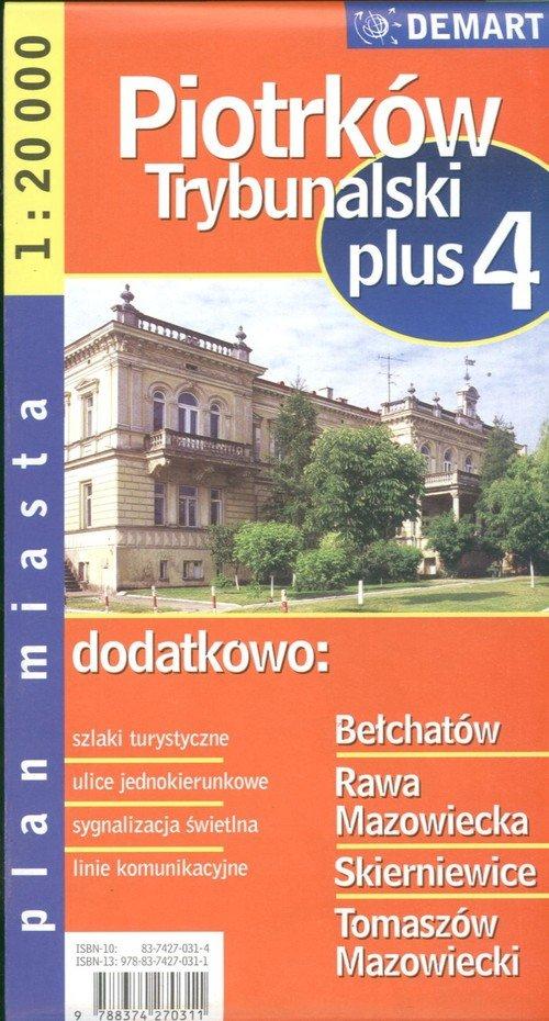 Piotrków Trybunalski plus 4 1:20 000 plan miasta