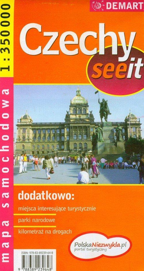 Czechy mapa samochodowa 1:350 000