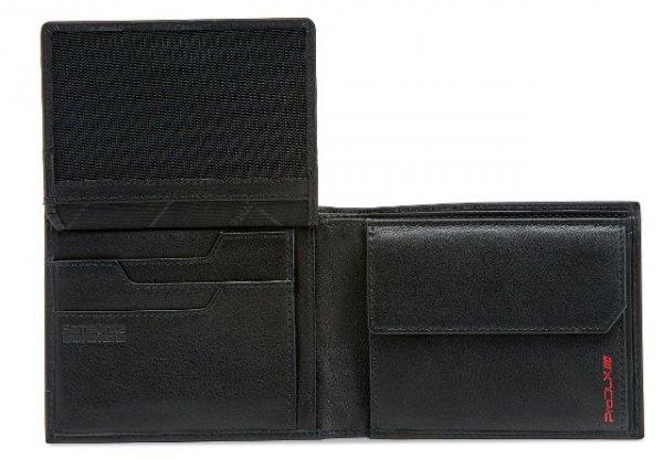 Portfel posiada miejsce na zdięcie(miejsce na zdięcie wyłożone siateczką) oraz dwie przegrody na banknoty