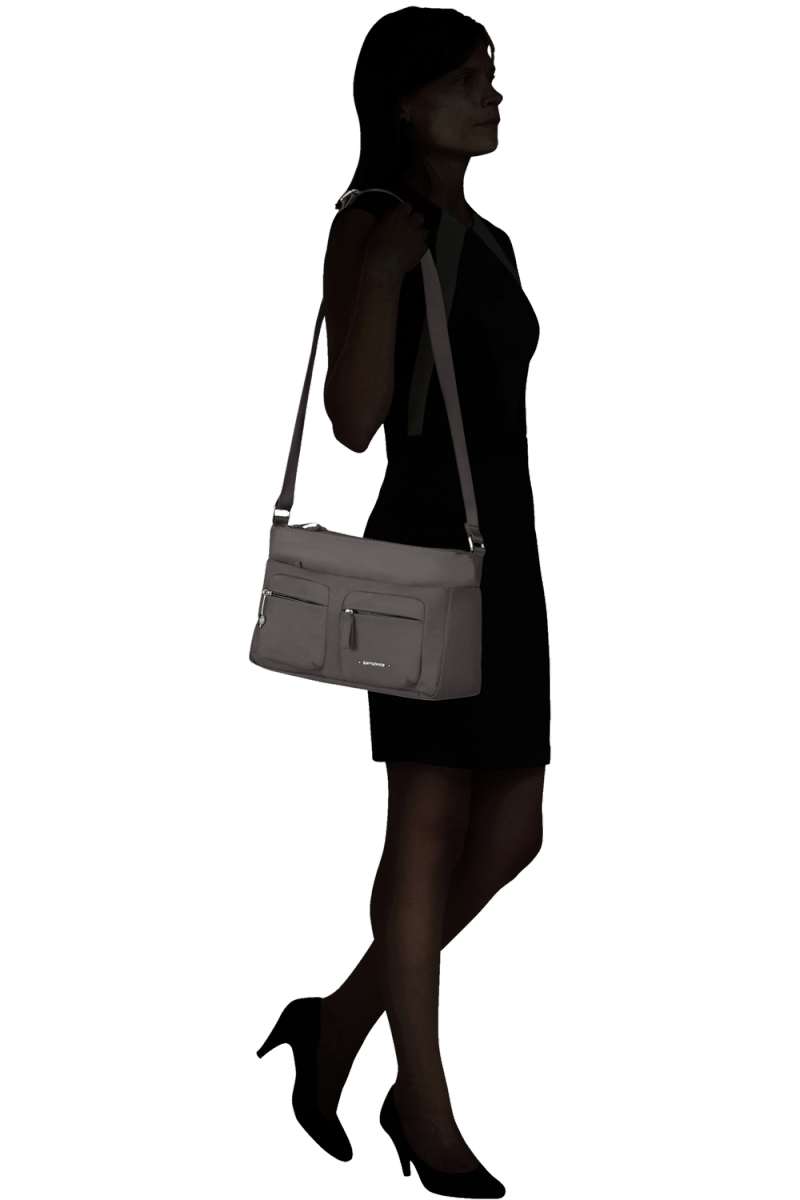 Torebka miejska MOVE 3.0-HORIZ.SHOULDER BAG+FLAP 68-031 Dark Grey