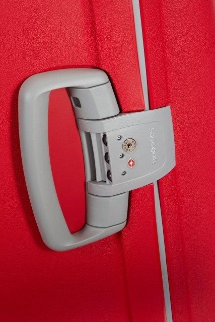 Uchwyt z boku walizki z wbudowanym zamkiem szyfrowym z systemem TSA