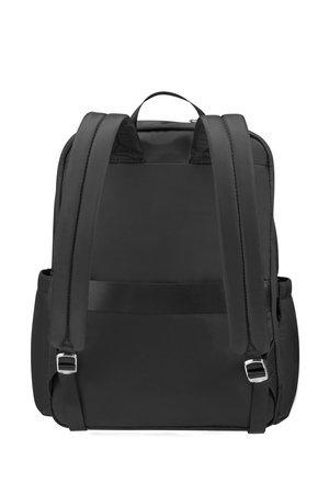 Plecak na tyle posiada kieszeń zamykaną na suwak oraz taśme dzięki, której można plecak nałożyć na stelaż bagażu