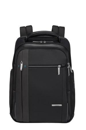 """Plecak na laptopa 14,1"""" wykonany z poliestru i nylonu, a wykończenia są z poliuretanu"""