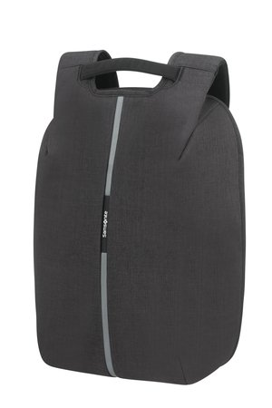 """Pleacak na laptopa 15,6"""" antykradzieżowy. Na zewnątrz wykonany z materiału ekologicznego odpornego na nacięcia, co uniemożliwia kradzież z wnętrza plecaka."""