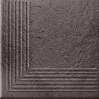 Solar Graphite Steptread Corner 3d 30x30