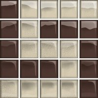 Glass Beige Brown Mosaic D New 14,8x14,8