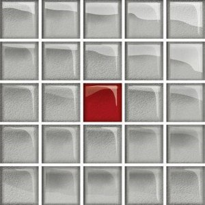 Glass Silver Red Mosaic A New 14,8x14,8