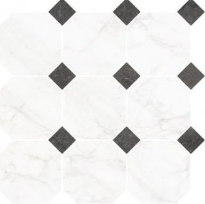 Frost White Oktagon Mix Mozaika 33x33