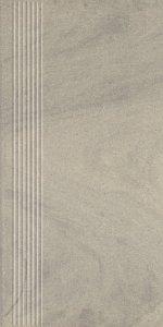 Paradyż Rockstone Atracite Stopnica Prosta Nacinana Mat 29,8x59.8