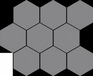 Cambia Gris Lappato Mozaika Heksagon 27,53x33,4
