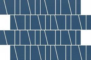 Zambezi Blue Trapez Mosaic Matt 20x29