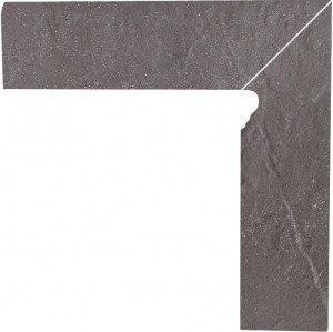 Taurus Grys Cokół Schodowy Dwuelementowy Prawy 30x8,1