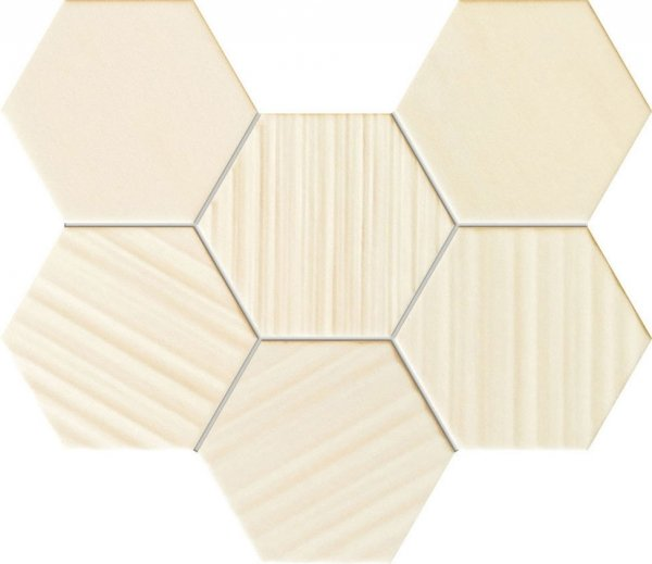 Horizon Hex Ivory Mozaika 28,9x22,1