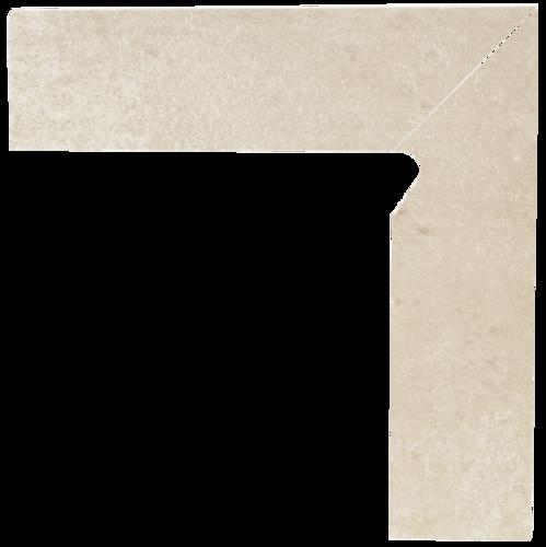 Cotto Crema Cokół Schodowy Prawy 2x30x8,1