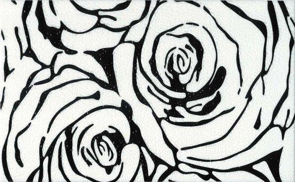 Dekor Rosa Negro 25x40