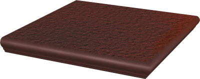 Cloud Brown  Stopnica Narożna z Kapinosem 33x33