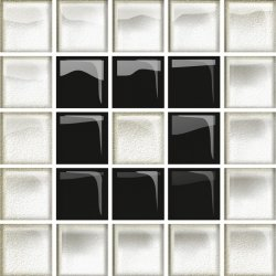OPOCZNO glass white/black mosaic b new 14,8x14,8 g1 szt