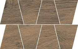 OPOCZNO rustic brown mosaic trapeze 19x30,6